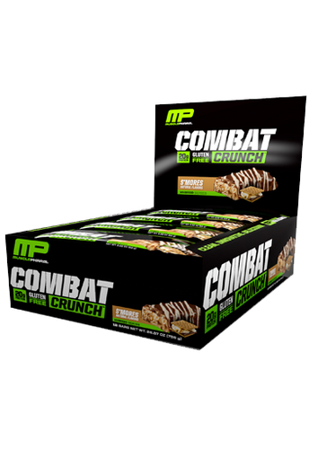 MusclePharm Combat Crunch Bar - Smores (12 bars in a Pack)