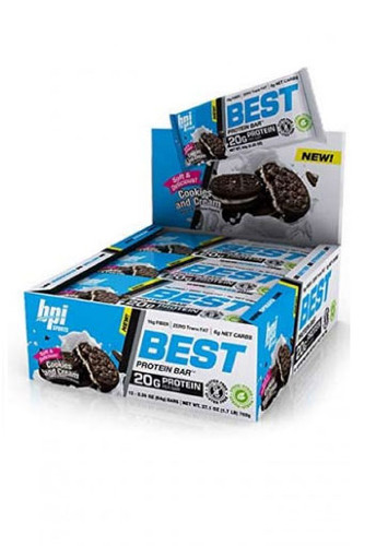 BPI Sports Best Protein Bars - Cookies & Cream (12 Bars In A Pack)