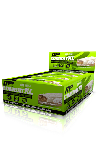Musclepharm Combat XL Bar - Cinnamon Twist (Pack Of 12 Bars)