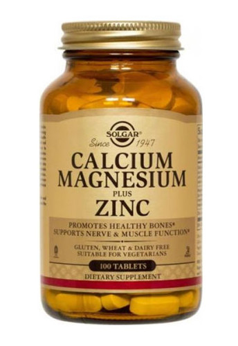Solgar Calcium Magnesium Plus Zinc - 100 Capsules - Dubai, UAE