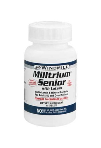 Windmill Milltrium Senior with Lutein - 60 Tabs
