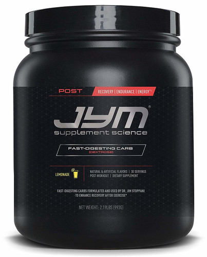 JYM Supplement Science Post Carb Lemonade Powder, Pack of 30  Front