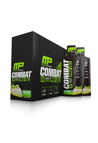 MusclePharm Combat Pro Protein Gel - Key Lime (Pack Of 12 Gels)