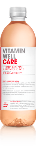 Care RED GRAPEFRUIT VITAMIN B12 BIOTIN + FOLIC ACID Beauty comes from within – with a taste of red grapefruit