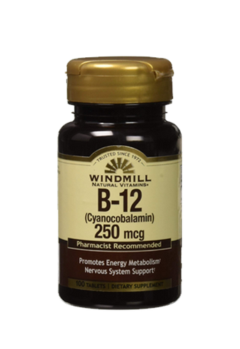 Windmill Health Products B- 12 1000mcg 100 Caps