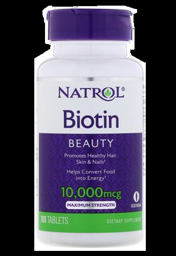 Natrol, Biotin, Maximum Strength, 10,000 mcg, 60 Tablets