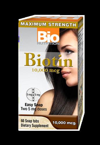 Bio Nutrition, Biotin 10,000 mcg 60Tabs