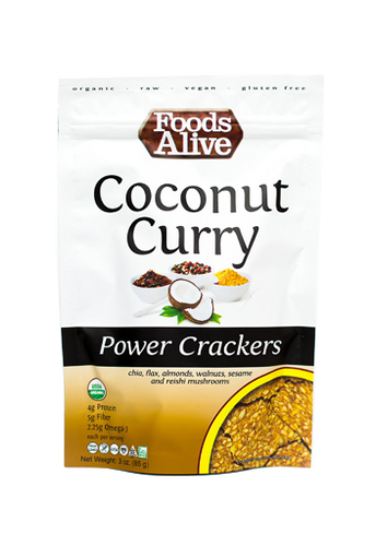 Food Alive, Org Coconut Curry Cracker 3Oz
