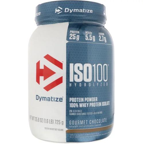 Dymatize ISO 100 Hydrolyzed Protein Powder, Gourmet Chocolate, 1.6 LB