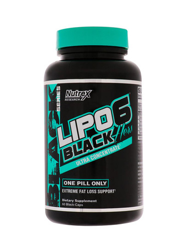 Lipo6 Black Hers  Ultra Concentrate Extreme Fat Loss Support-60 Black Capsules