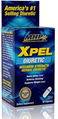 MHP Xpel Maximum Strength Diuretic Water Pills, 80 Capsules