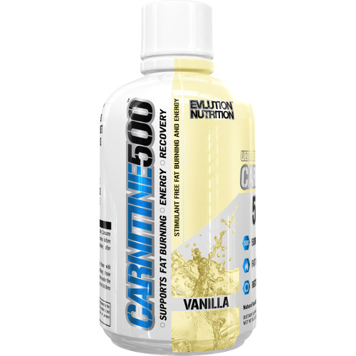 EVLution Nutrition, Carnitine 500, Vanilla, 16 oz (465 ml)