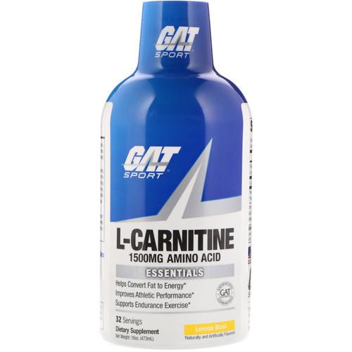 GAT, L-Carnitine, Amino Acid, Lemon Blast, 1500 mg, 16 oz (473 ml)