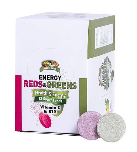 Garden Greens Energy Reds & Greens Superfood Effervescent Tablets