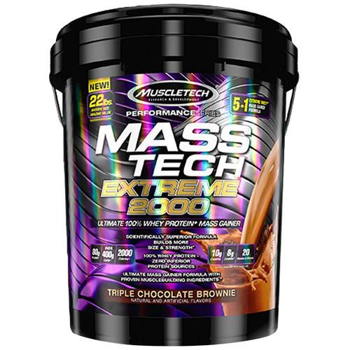 Muscle Tech Mass Tech Extreme 2000 Triple Chocolate Brownie, 22 lbs.