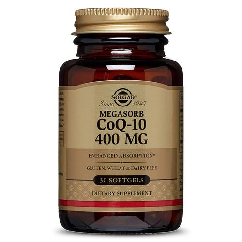 Solgar Megasorb CoQ-10 Supplement, 400 mg, 30 SG