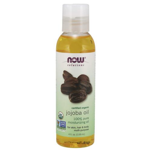 Now Solutions, Organic Jojoba Oil, Moisturizing Multi-Purpose Oil, 4Oz