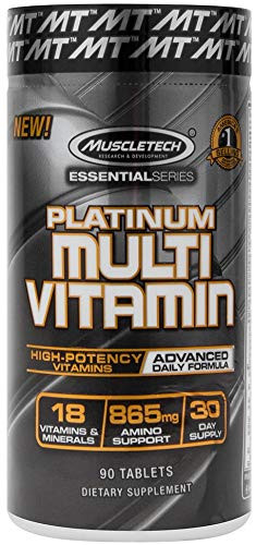 MuscleTech Platinum Multivitamin, 90 Tablets