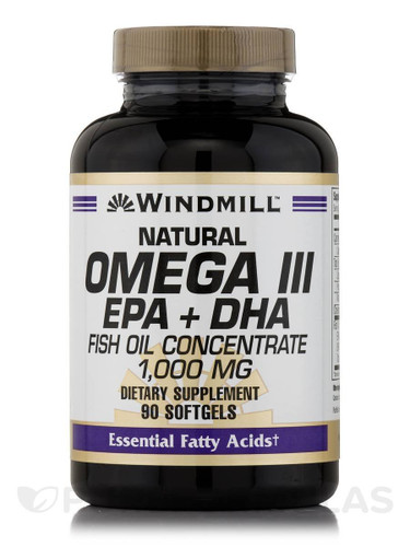 Windmill Omega 3 Fish Oil 1,000 mg, 90 Softgels