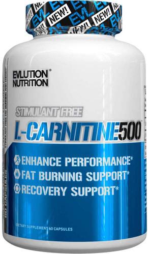EVLUTION NUTRITION L-Carnitine 500, 60 Capsules