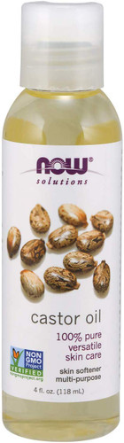 NOW Solutions Castor Pure Oil 100%, 4 Oz