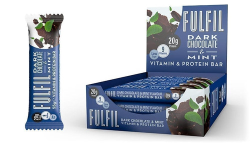Fulfil Dark Chocolate & Mint Vitamin and Protein Bar 55G