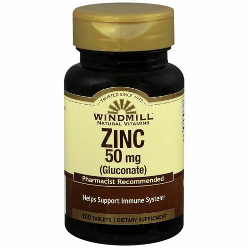 Windmill Zinc 50 mg (Gluconate) 100 Tablets