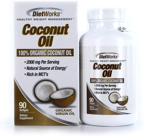 Windmill Dietworks Coconut Oil, 90 Soft Gels