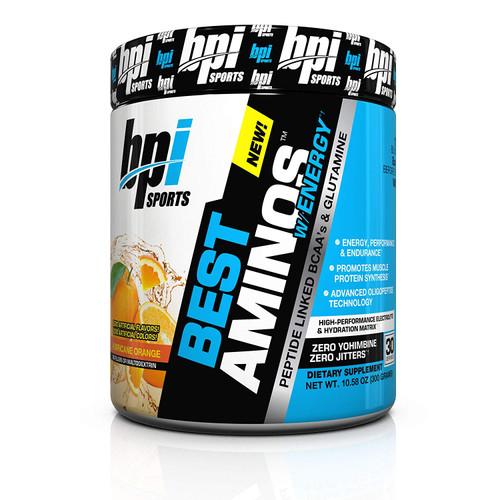 BPI Sports Best Aminos With Energy Hurricane Orange - 30Servings