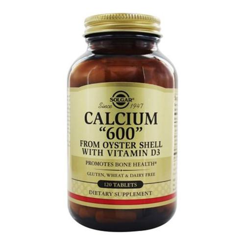 "Solgar Calcium ""600"" With Vitamin D3 - 120 Tablets"