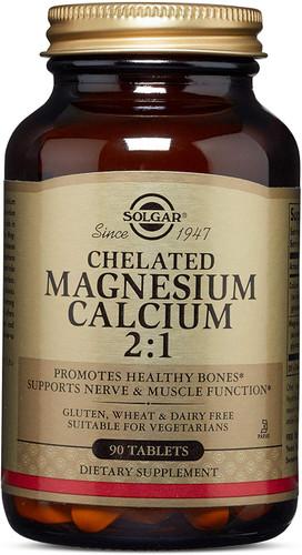 Solgar – Chelated Magnesium Calcium 2:1, 90 Tablets