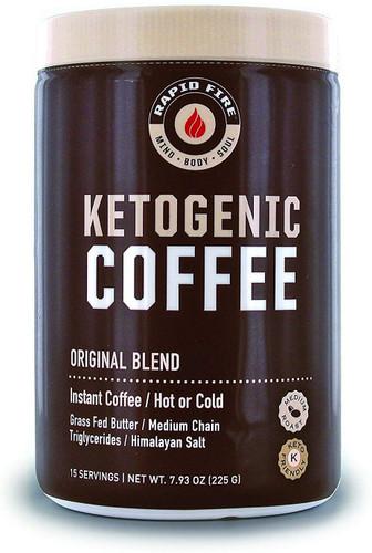 Rapid Fire Ketogenic Fair Trade Instant Keto Coffee Mix, 7.93 oz.