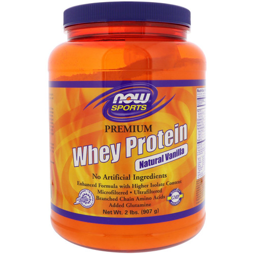 NOW Sports Whey Protein Natural Vanilla - 2 lbs