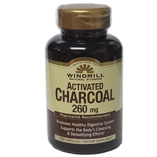 Windmill Natural Vitamins Activated Charcoal 260mg 100 Capsules