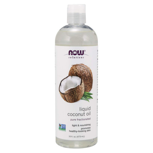 Now Solutions, Liquid Coconut Oil,16 Oz