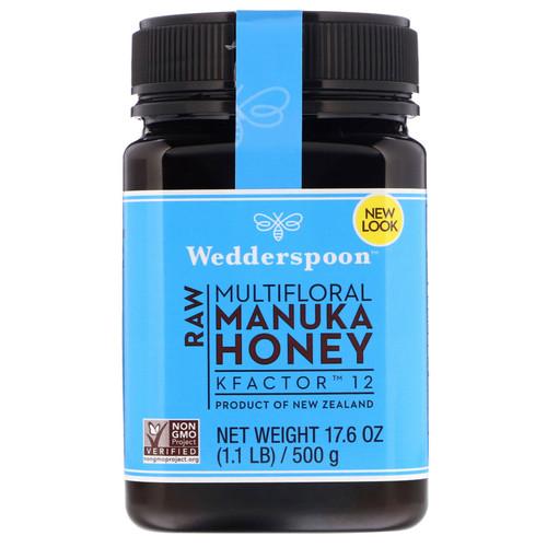 Wedderspoon, Raw Multifloral Manuka Honey, KFactor 12, 17.6 oz