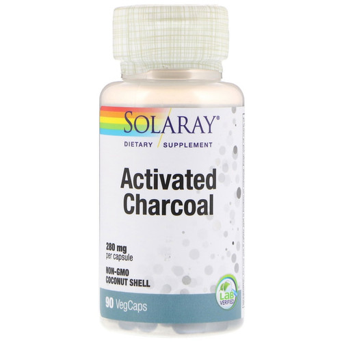 Solaray, Activated Charcoal, 280 mg, 90 Capsules