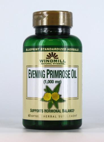 Windmill Natural Vitamins, Evening Primrose Oil, 1000 mg, 60 Soft gels