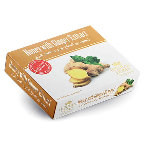 Herbal Home Honey with Ginger Extract and Mint Mix 30x10gm Sachets