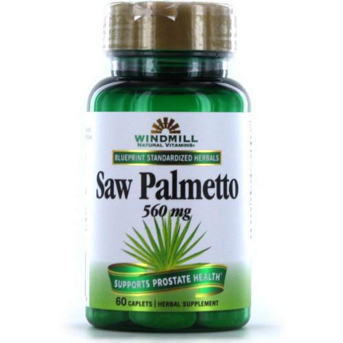 Windmill Herbals Saw Palmetto, 560 mg, 60 Caplets