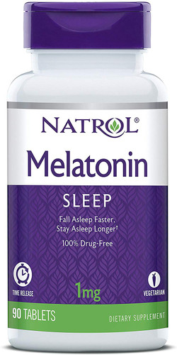 Natrol Melatonin Time Release Tablets, 1mg, 90 Tablets