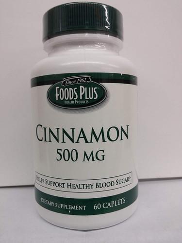 Food Plus - Cinnamon 500mg 60 Caplets