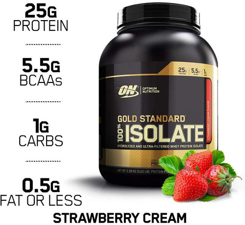 Optimum Nutrition 100% GS Isolate 5.02 Lbs Strawberry Cream