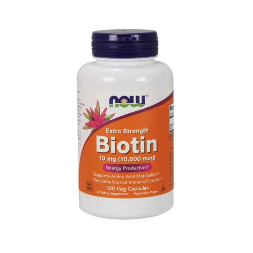 Now Supplements, Biotin 10 mg (10,000 mcg), 120 Veg Capsules