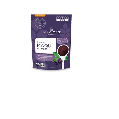Navitas Organics, Organic Maqui Powder, Tart Berry.
