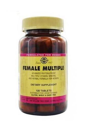 Solgar Female Multiple Non Flavoured Multi Vitamins 120 Tabs