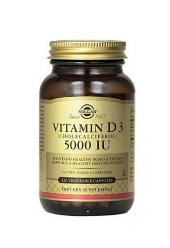Solgar Vitamin D3 5000 Iu Non Flavoured 120 Capsules