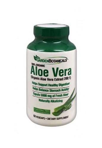Garden Botanicals Aloe Vera Herbal Supplements - 60 Capsules