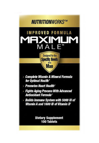 NutritionWorks Maximum Male Multi Vitamins for Men - 100 Capsules