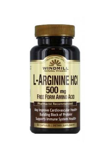 Windmill L-Arginine 500 Mg - 50 Capsules